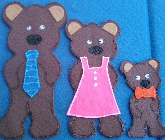 Goldilocks and the Three Bears Flannel Board Felt Board Story