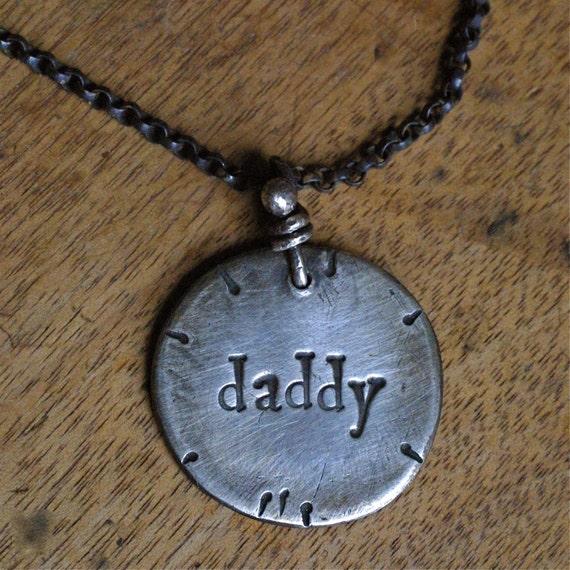Rustic Silver Daddy Pendant