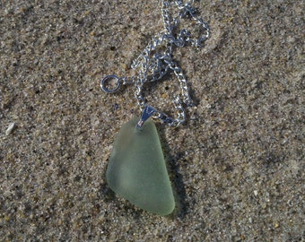 Light Aqua Beach Glass Necklace