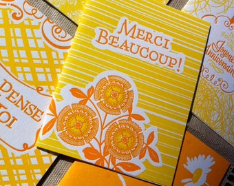Letterpressed French Occasion Card Set (5 cards)
