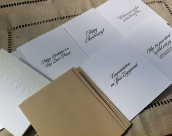 Letterpressed Lace Occasion Card Set (5 cards)