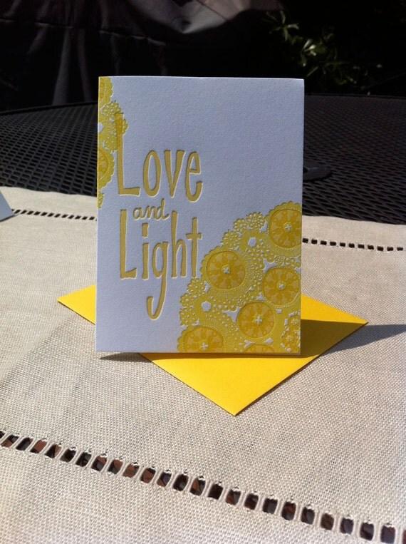 Yoga Mandala Love Greeting Card - Sunny Yellows