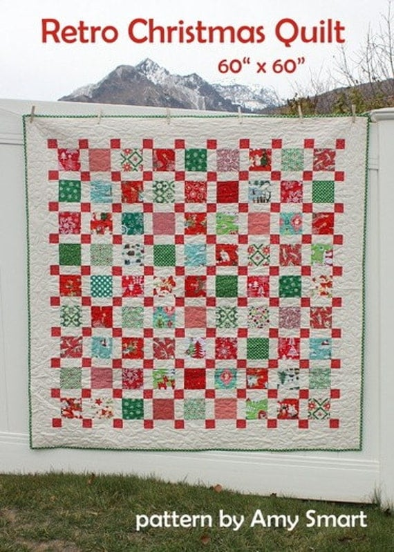 Pattern Retro Christmas Quilt Pattern