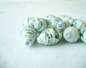 Green Marble Paper Beads