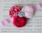 Valentines Day Treat - Pink, Red and Polkadots Hair Accessory