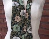 Brinkley-Upcycled Vintage Necktie Zipper Necklace Collar-Primrose