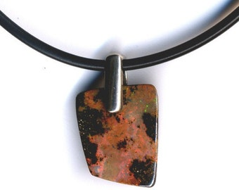 Opal, Interesting Patterned Australian Boulder Opal Pendant - Item 511112 - SALE 15% OFF use code SALE15