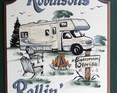 "Class ""C"" Motorhome CAMPING Welcome Sign Weatherproof PERSONALIZED"