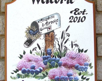 PERSONALIZED-Welcome Sign Mailbox-WEATHERPROOF-Hand Painted-Great Gift Idea