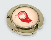 Whimsical Little Red Riding Hook Design Foldable Purse Hook - Purse Hanger - Bag Hook