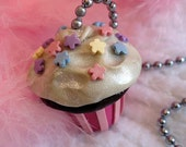 Cupcake Ceiling Fan Pull Chain - Pink, Blue, Lavender, Yellow - Cupcake Themed Room Decor