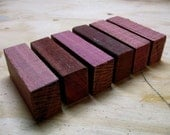 Large - Purpleheart Wood Blanks - 6 Pieces - Reclaimed