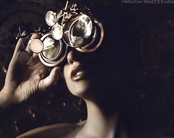New Steampunk Goggles / Sleepy Hollow Glasses / Custom 5 Lens System Unisex Design
