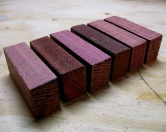 Large - Purpleheart Wood Blanks - 20 Pieces - Reclaimed