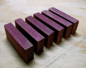 Small - Purpleheart Wood Blanks - 20 Pieces - Reclaimed
