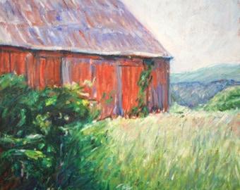 Vermont Barn, Folded Notecard, Vermont Roadside, Blank inside