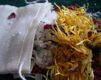 Herbal Bath Salts - ORGANIC - All skin types - Handmade
