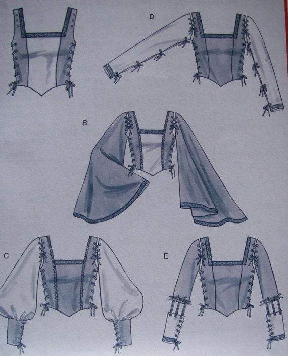 Five Renaissance Bodices pattern - McCall's M4696 Size 16 18 20 22