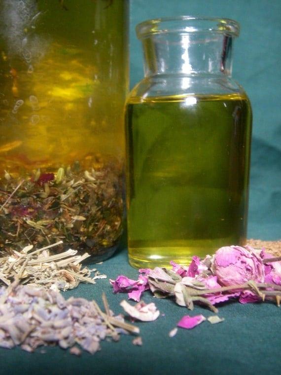 Body, Bath, and Massage Oil - ORGANIC Healing Herbal Infusion - Handmade
