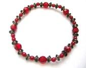 Dark Red Acrylic Bracelet
