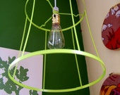 Circular Liime Green Ghost Lamp with Vintage Style Bulb