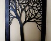 Tree Silhouette Cut Canvas