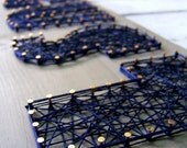 6 Letter Modern String Art Wooden Name Tablet - Made to Order