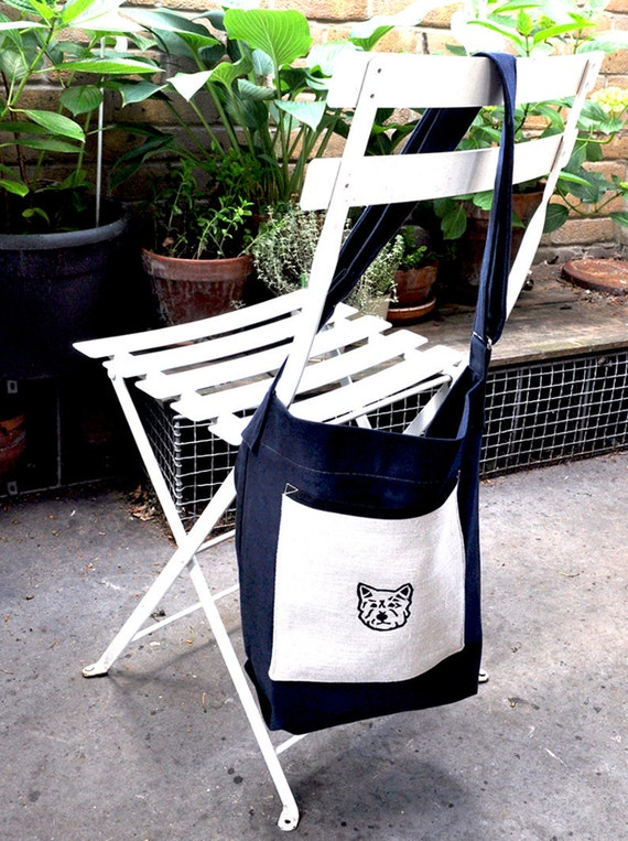 Navy Blue Westie Dog Walk Bag