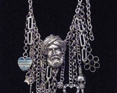 CHAINS & CHARMS  COLLAR  One of a Kind Free Mailing
