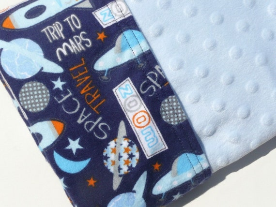 Destash sale boys outer space themed minky and flannel for Outer space themed fabric