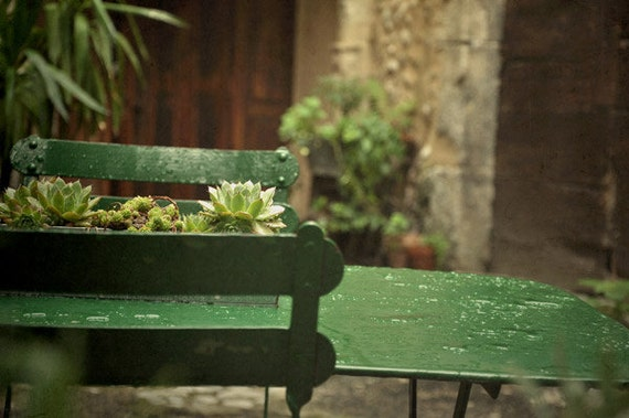 """French country photograph. """"Green... """"Set of four photographs. Fine art photography print. 4,3 x 6,5 inches (13x18 cm)"""