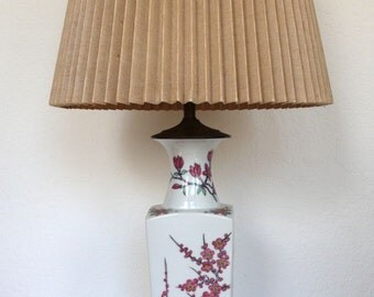 Hollywood Regency Hand Painted Floral Lamp