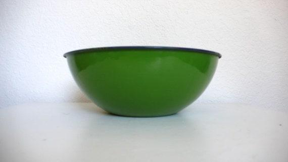 Large Green Enamel Bowl