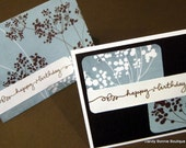 Brown and Blue Birthday - set of 2