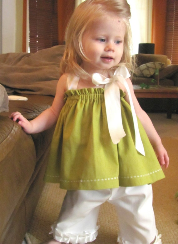 COCO - Summer 2010 - Satin Ribbon Halter Blouse - 5 COLORS TO CHOOSE FROM - sizes 6m, 12m, 18m, 2T, 3T, 4T, 5, 6, 7, 8