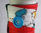 coffee cup cozy, coffee cup sleeve, Dr Seuss