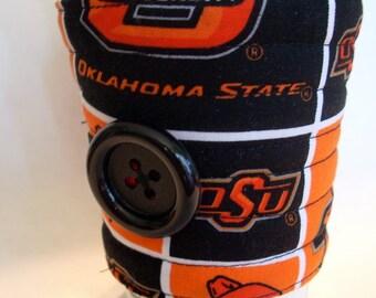 Oklahoma State University, OSU, Oklahoma State Cowboys, team coffee cozy, coffee cup sleeve, coffee cup cozy reuseable eco friendly