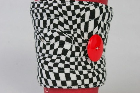 Black and White Coffee Cozy