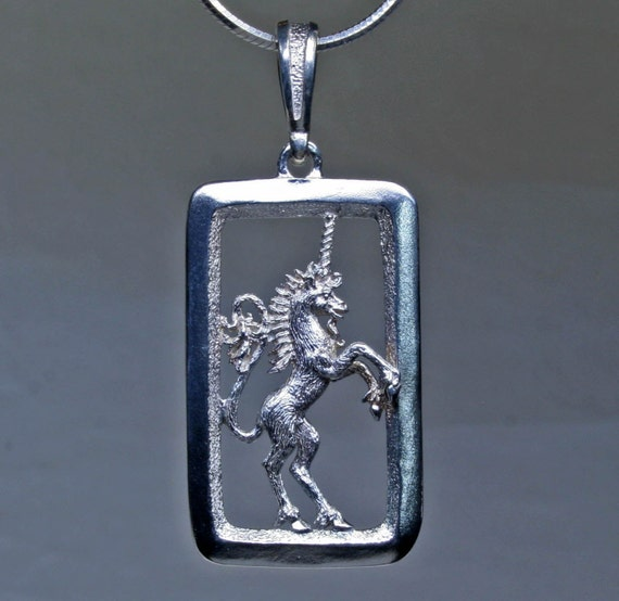 Rampant Unicorn in Sterling Silver
