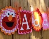 Whimzical Name banner in Girlie Elmo