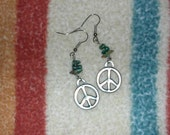 Earrings for Peace with Turquoise Nuggets