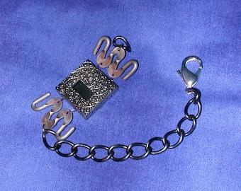 Funky Unique Marcasite Reversible Steam Punk Broken Watch Bracelet Recycled
