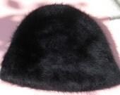 Child Sized Vintage Rabbit Fur Hat