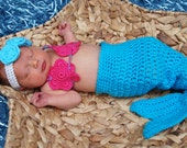 Crochet Mermaid TAIL ONLY Photo Prop 0-3 months