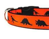 1 Inch Dog Collar Jurassic Rock