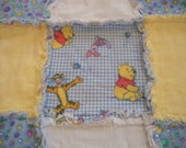 Winnie the Pooh and Friends Flannel Rag Edge Quilt
