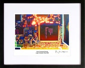 Large Computer Chip Signed Archival Print