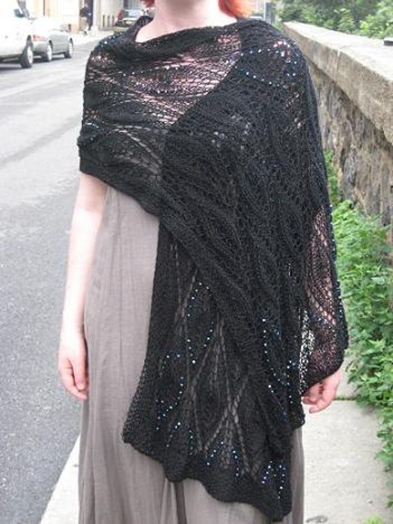black lace wrap with beads