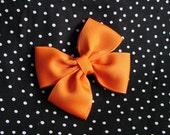 Orange Basic PinWheel Hair Bow Hairbow