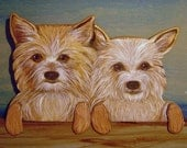 CUSTOM PET PORTRAITS - Hand Carved - Hand Painted  Wood Dogs - Door or Window Toppers - by Will Kay Studios